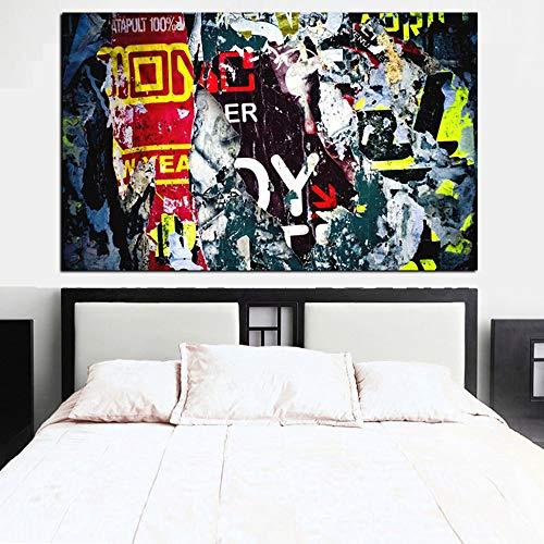HD Print Abstract Graffiti Street Pop Art Ölgemälde auf Leinwand Poster Wandkunst Bild für Wohnzimmer A 40x60cm