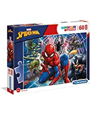 Clementoni 26444 Clementoni-26444-Supercolor Puzzel Spiderman-60 Maxi delen, meerdere kleuren