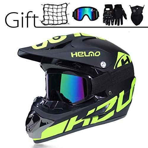 Casco de motocross para adultos, de cara completa, para hombre y mujer, para enduro, todo terreno, quad y cuatrimoto