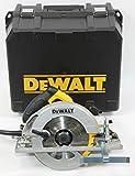Dewalt DWE576K-QS DWE576K-QS-Sierra Circular 1.600W-65mm Prof. -Ø190mm + maletín (con Base para Rail), 1350 W, 230 V