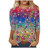 Pas Cher T-Shirt Femme Sexy Chic Impression Ete Impression Col Round Grande Taille Tee Shirt Ample Haut Sexy Mode Top Tunique Blouse