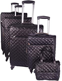 4 Pieces Design Trolly Bags CHANNEL Brand With 1 Small Beauty case Or use As A hand bag Sizes Are 32,28,24,20 And 12 Size
