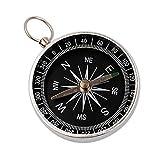 QIjinlook Kompass Outdoor - Sprungdeckel Marschkompass Leuchtziffern Wasserdicht - Premium Portable Messingkompass - Marschkompass Navigation Tools für Camping Wandern (Silber)