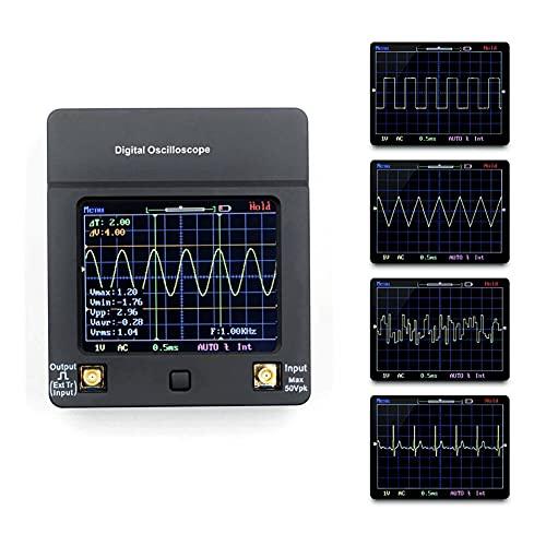 JINKEBIN Osciloscopio DSO112A Pequeño Osciloscopio Digital Tester Multímetro Portátil 2MHz 5MSPS TFT Pantalla Táctil Pantalla táctil con batería