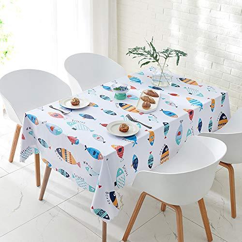xiaopang Mantel de lino resistente al agua, mantel redondo lavable para fiesta de cumpleaños, 80 x 120 cm
