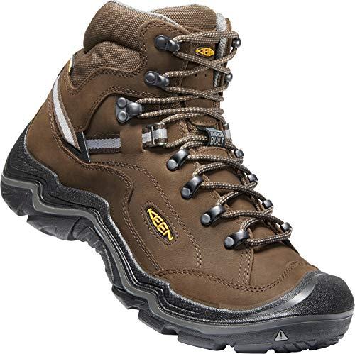 KEEN - Durand II Mid Waterproof Leather Hiking Boot, Cascade Brown/Gargoyle, 9 M US