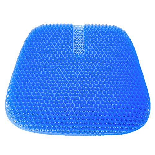 monroebaby 特大サイズゲルクッション 46.0×42.5×3.0cm 滑り止めカバー付き ダークブルー