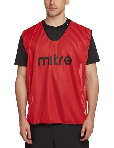 Mitre Pro Fußball Training Leibchen, Red/Black, erwachsenengröße