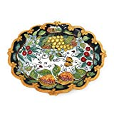 CERAMICHE D'ARTE PARRINI - Italian Ceramic Serving Tray Plate Decorated Fruits Art Pottery Hand Painted Made in ITALY Tuscany Florence -  CERAMICHE D'ARTE PARRINI since 1979