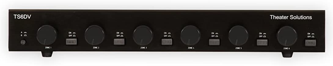 Theater Solutions TS6DV Six Zone Dual Source Selector with Volume Controls