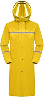 TXOZ Waterproof Raincoat Single Layer Connected Body Waterproof Highlight Reflective Strip Rainstorm Grade Waterproof Suitable for Outdoor (Color : E, Size : 2XL)