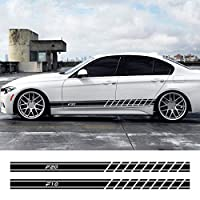 BMW F105シリーズF01F02 F07 F11 F12 F13 F15 F16 F17 F18 F20 F24F25用2PCS車のドアサイドスカートストライプ魅惑的なステッカー