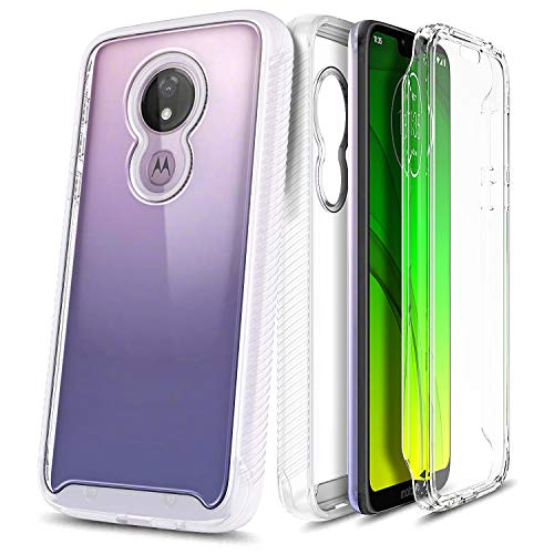 E-Began Case for T-Mobile REVVLRY (5.7 inch, 2019 Release), Full-Body Protective Rugged Matte Bumper Cover with Built-in Screen Protector, Shockproof Impact Durable Phone Case -Clear