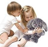 Kufl Peluche térmico de conejo para bebés y niños – Cojín de calor para microondas en color gris con relleno natural