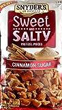 Snyder's SWEET & SALTY PRETZEL PIECES Cinnamon Sugar 10oz. (Pack of 2)