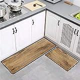 OPLJ Alfombra de Cocina Retro Textura de Madera Alfombra de baño Absorbente Pasillo Alfombra de Puerta de Entrada Sala de Estar Baño Alfombra Impresa A1 50x80cm