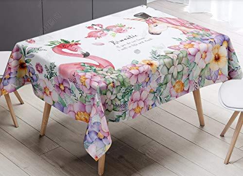 GLLCYL Manteles Mesa Rectangular Carne de Unicornio Flamenco Impermeable Mantel para Salón Comedor Cocina