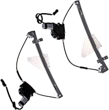 LUJUNTEC 741-374 741-375 Pair Set Rear Replacement Power Window Regulator with Motor fit for Grand Cherokee Jeep 01-04 W124 55363285AA 55363285AB 55363285AC 55363285AD