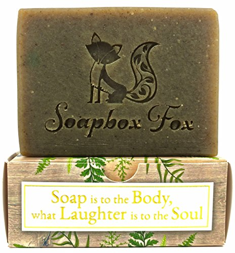 Pine - Organic Anti Bacterial & Anti-Fungal Healing Moisturizing Shea Butter Bar Soap for Men - with Essential Oils - Natural Herbal Soap for Face & Body - Big 6oz Bar - Burdock, Nettle, Comfrey