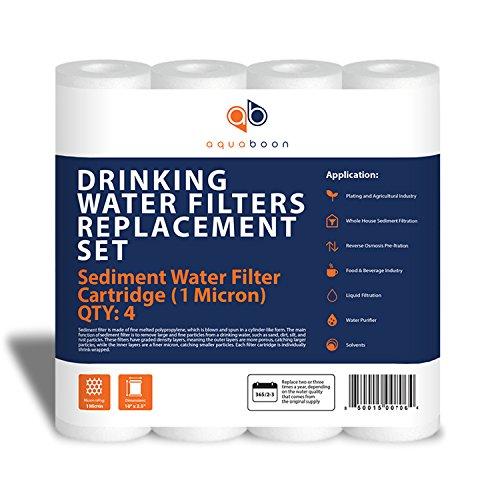 Aquaboon 1-Micron Sediment Water Filter Cartridge, 4-Pack