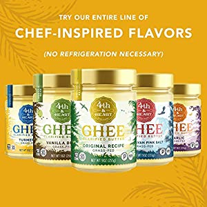 Original Grass-Fed Ghee by 4th & Heart, 16 Ounce, Keto, Pasture Raised, Non-GMO, Lactose Free, Certified Paleo #4