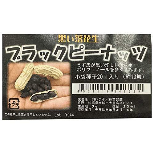 フタバ種苗 黒落花生[ブラックピーナッツ] 種・小袋詰(20ml)