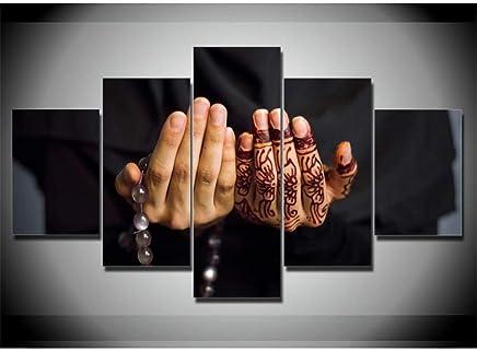 Imagen De Lienzo 5 Piezas Islam 5 Paneles De La Parte Impresión En Lienzo De Pared Impresión De Arte En Lienzo Imágenes del Arte De Impresión para La Decoración Casera Regalo De La Decoración L