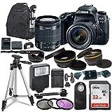 Canon EOS 77D DSLR W/Canon EF-S 18-55mm is STM Lens and Accessory Bundle