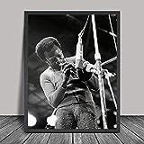 WIOIW Miles Davis Porträt Jazz Musik Star Trompete