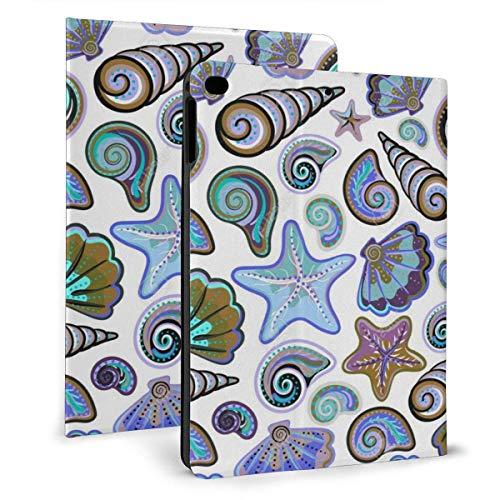 HleHjum Schutzhülle für iPad 26,7 cm (10,5 Zoll), mit Aufstellfunktion und Muschel-Design, Seestern