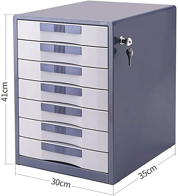 Color : C File cabinet Desktop File Filing File Data Storage Office Supplies Compressible Cyan White Office Supplies