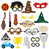 MALLMALL6 Magical Wizard Party Photo Booth Props, Wizard Castle Party Mask, Birthday Carnival Party Dress-up Accessories and Theme Party Favor for Kids-20 Count