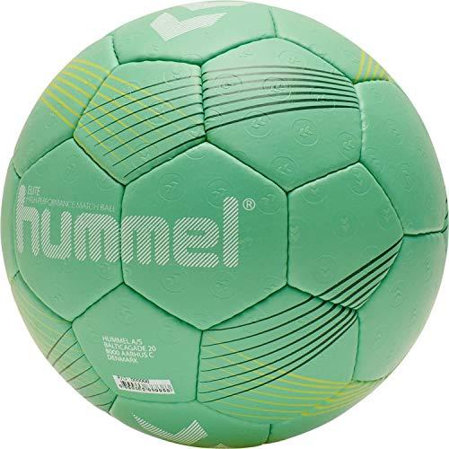 hummel 212549 Unisex-Adult Elite HB Handball, Green/Yellow, 2
