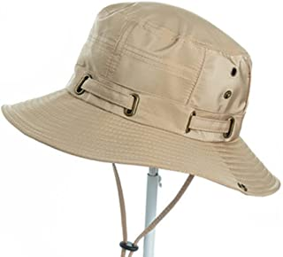 AINIYF Men's Large Hat Eaves Summer Sun Protection Cap,Adjustable Windproof Rope Outdoor Leisure Cotton Polyester Sun Prot...
