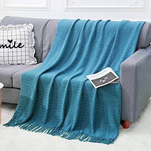 WGCC Knit Throw Blanket for Couch 50 60 100 Acrylic Super Soft Bed Throw Blanket with Tassels product image
