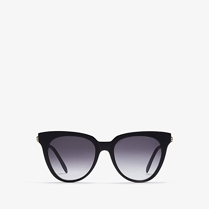 Alexander McQueen  AM0159S (Shiny Black/Grey Gradient) Fashion Sunglasses