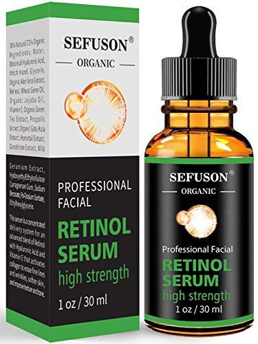 Retinol Serum, High Strength Anti-aging Serum with Hyaluronic Acid & Vitamin E, Face Serum, for Wrinkles, Pigmentation, Fine Lines & Sensitive Skin(30ml)