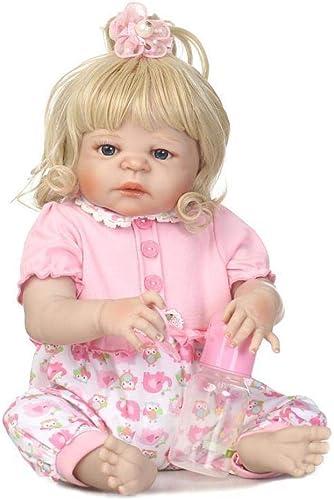 Hongge Reborn Baby Doll,Vollen Weißhem Silikon lebensechte Baby Wiedergeburt Puppe Kinder Spielzeug 57cm