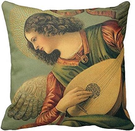 Lpolouo Ange Musicien Melozzo DA Forli Renaissance Art Coussin Oreiller