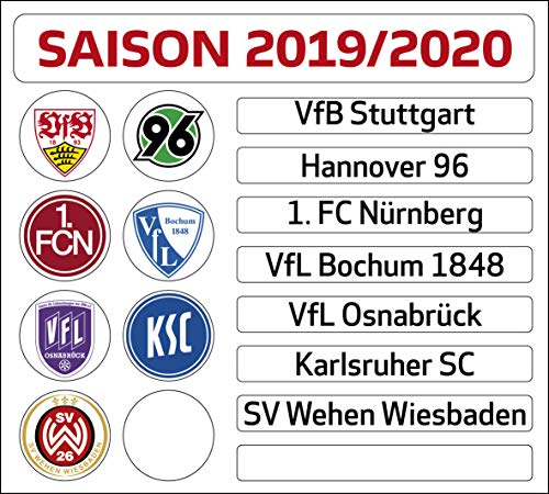 DFL Duitse voetbal Liga 2. Bundesliga Magneettabelle – Updateset (Sseizoen 2019-2020)
