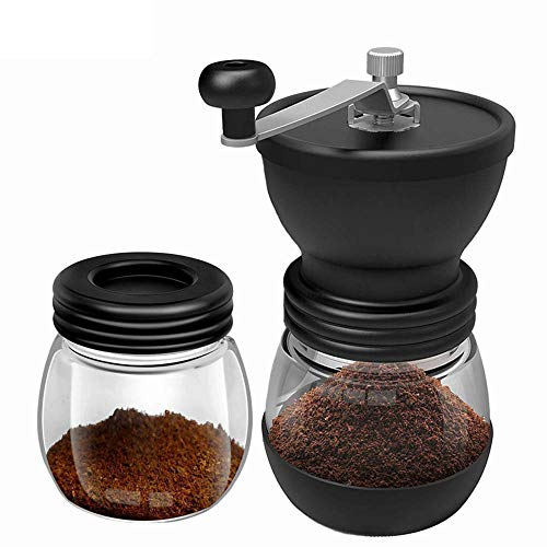 Koffie Slijper Hand Retro Koffiemolen Kunststof Handmatige Slijpmachine Handmatige Slijper Roestvrij Burr Koffiemachine 1 Stks