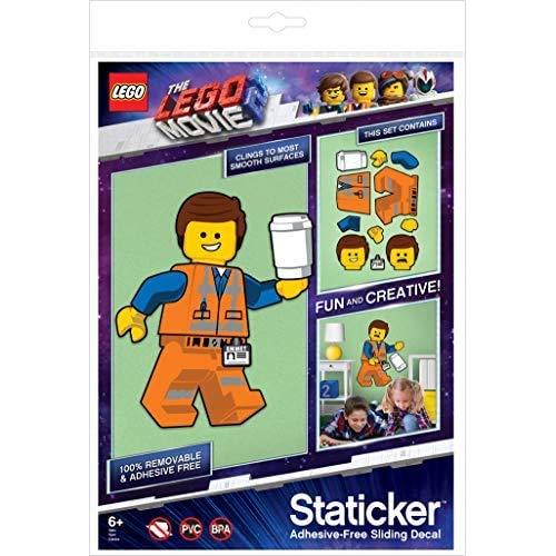 Lego 52370 Emmet Staticker - Adhesivo Decorativo para Pared