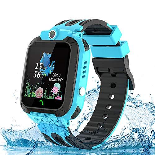 Kinder Uhr Kids Smart Watch, TLLAYGM Kinderuhren Telefon Uhr Uhren für Kinder Armbanduhr Geschenk Jungen Mädchen Blau