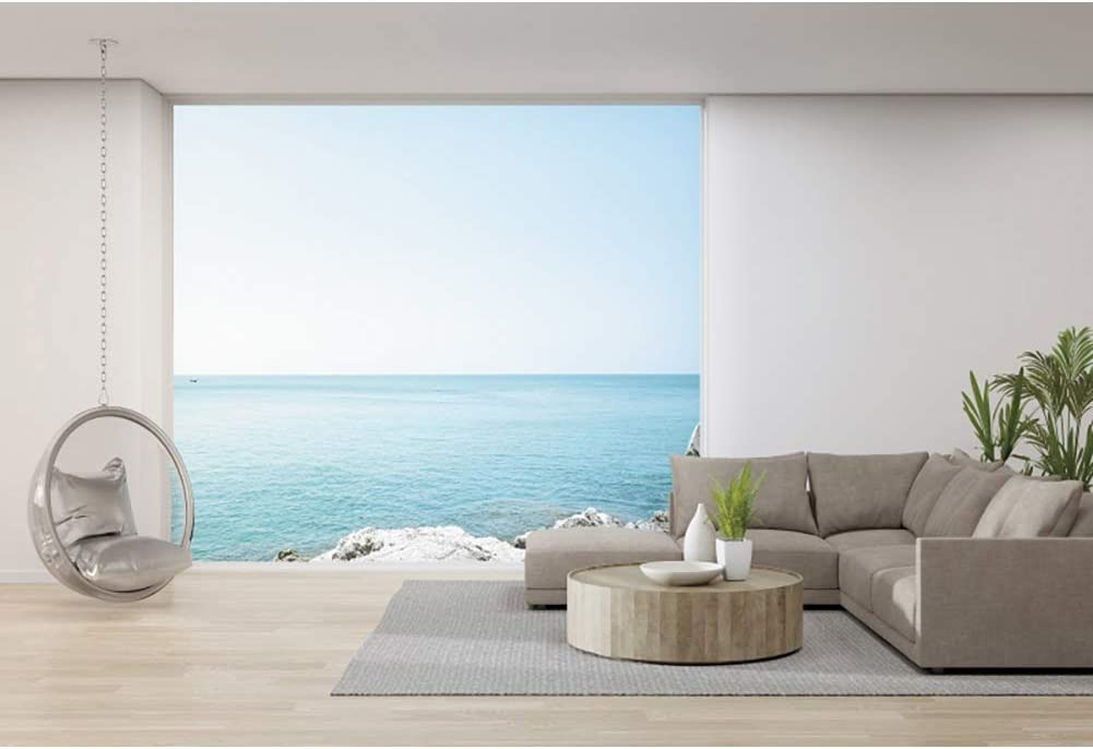 YongFoto 12x8ft Sea View mart Room Modern Home Backdrop Sofa 4 years warranty Interior