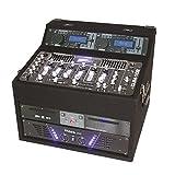 Ibiza DJ1000MKII DJ-Mixer 4-Kanal Mischpult mit Verstrker (2 x 150 Watt RMS, Doppel-CD-Player, 2 x USB-Ports, 2 x SD-Slots) schwarz