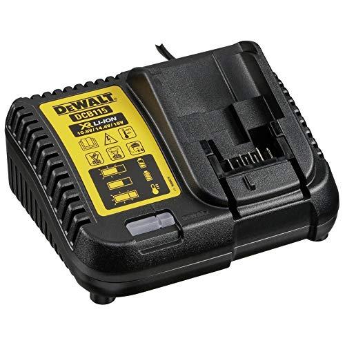 DeWalt DCB115-QW Cargador y batería cargable Cargador de batería DCB115-QW, Cargador de batería, Negro, Amarillo, Ión de Litio, 4 A, 5 Ah