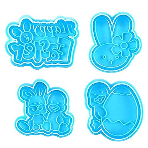 Apofly Ostern-Kaninchen-plätzchen-Formen-biskuit-Form-Kuchen-Deckel Decoratin Herstellung Osterei-häschen Plunger Formen Für DIY-Fondant-schokoladen-nachtisch-Party B-Art
