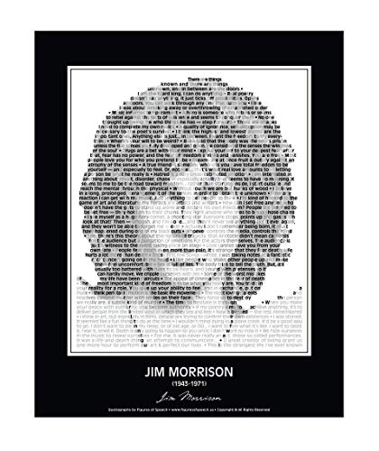 Original Jim Morrison Poster in his own words. Jim Morrison Print made of Jim Morrison Quotes! Wall Art. Home Decor. Picture. 24