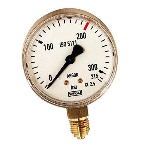schweisser-king.de: Ersatzmanometer Inhaltsmanometer Argon 315 bar 200 l/min.
