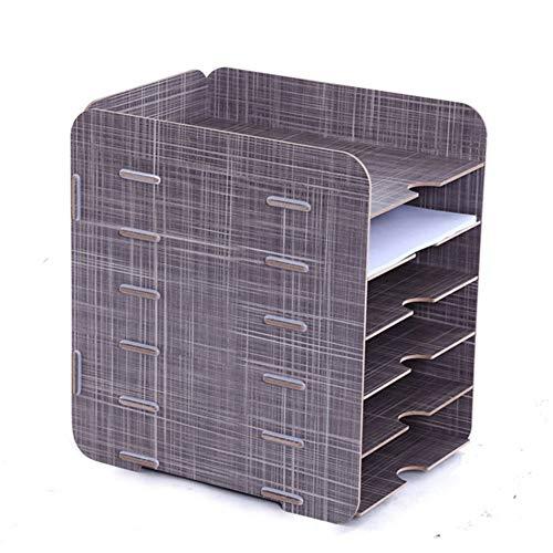Z-SEAT 6 Niveaux détachable Grain en Bois Conception Bureau A4 fichier Lettre Plateau de Rangement Armoire de Bureau boîte Cas Bureau Organisateur étagère Rack